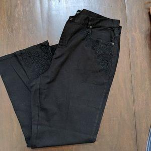 Ralph Lauren Jeans Black lace Stretch Straight Leg